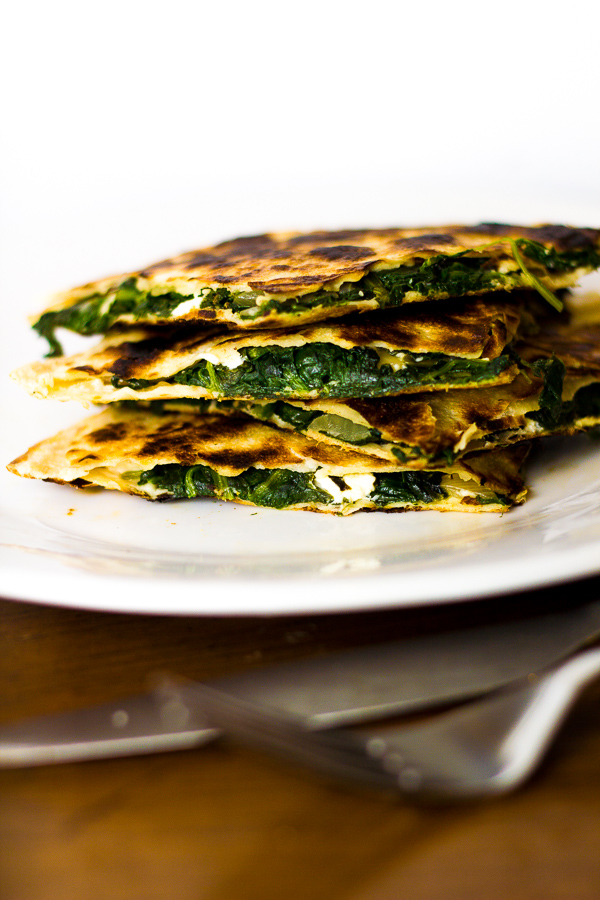 Greek Spinach & Feta Quesadillas with Tzatziki Sauce | The Greek ...